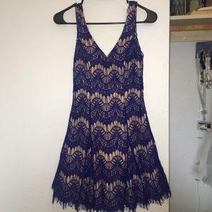 Dresses & Skirts - Blue and Beige Dress